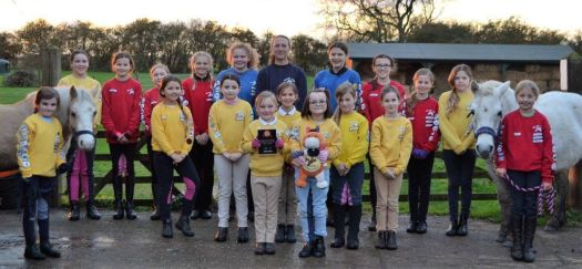 Willow Farm Pony Club with their trophy